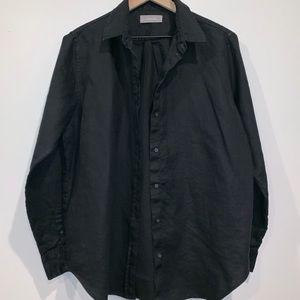 EVERLANE Black Linen Button up shirt